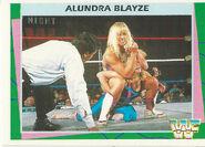 1995 WWF Wrestling Trading Cards (Merlin) Alundra Blayze 148