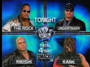 The Rock vs Undertaker vs Kane vs Rikishi
