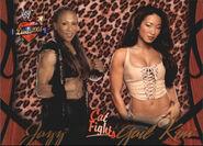 2004 WWE Divas 2005 (Fleer) Jazz & Gail Kim 54
