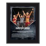 Bayley & Charlotte Survivor Series 2016 10 x 13 Commemorative Photo Plaque