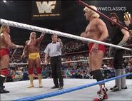 Hulk Hogan Sid Justice vs Ric Flair The Undertaker