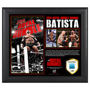 Batista Royal Rumble 2014 Winner Commemorative Plaque