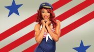 Alicia Fox 2012 July 4th WWE Photo Shoot