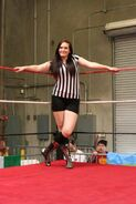 Terra Calaway as a referee