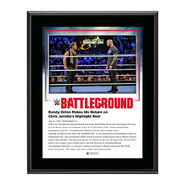Chris Jericho and Randy Orton Battleground 2016 15 x 17 Framed Plaque w Ring Canvas