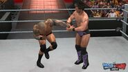 WWE SvR11-Jericho-Orton Grapple