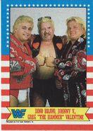 1987 WWF Wrestling Cards (Topps) Dino Bravo, Johnny Valentine, Greg Valentine 12