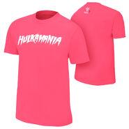 Hulk Hogan Hulkamania Courage Conquer Cure Pink T-Shirt