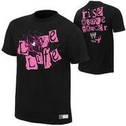 AJ Lee Rise Above Cancer Black T-Shirt