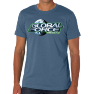 Global Force Wrestling Steel Blue Tee
