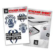 Roman Reigns One Versus All Sticker Sheet