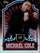 2011 Topps WWE Classic Wrestling Michael Cole 46