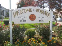 Woburn, Massachusetts Welcome sign