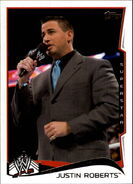 2014 WWE (Topps) Justin Roberts 27