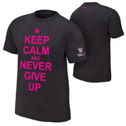 John Cena Keep Calm and Never Give Up Courage Conquer Cure T-Shirt