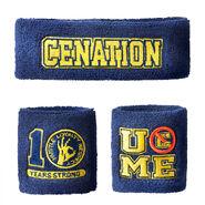 John Cena 10 Years Strong Sweatband Set