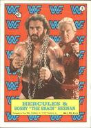 1987 WWF Wrestling Cards (Topps) Sticker Hercules & Bobby Heenan 6