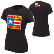 Hulk Hogan Flag 30th womens T-Shirt