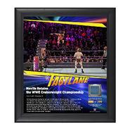 Neville FastLane 2017 15 x 17 Framed Plaque w Ring Canvas