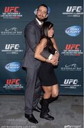 AJ with Punk at UFC event