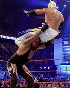Undertaker. Image throwing Mysterio