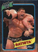 2008 WWE Heritage III Chrome Trading Cards Batista 2
