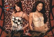 2004 WWE Divas 2005 (Fleer) Molly & Gail Kim 58