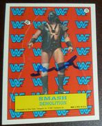 1987 WWF Wrestling Cards (Topps) Sticker Smash-Demolition 19