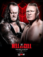 Hell in a Cell 2015 poster
