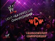 WCW Cruiserweight Championship and WWF Light Heavyweight Championship