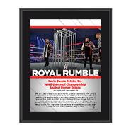 Kevin Owens Royal Rumble 2017 10 x 13 Commemorative Photo Plaque