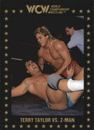 1991 WCW Collectible Trading Cards (Championship Marketing) Terry Taylor vs. Z-Man 44