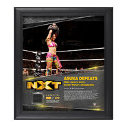 Asuka TakeOver Toronto 15 x 17 Framed Plaque w Ring Canvas