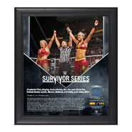 Bayley & Charlotte Survivor Series 2016 15 x 17 Framed Plaque w Ring Canvas