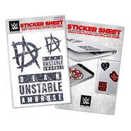 Dean Ambrose Vinyl Sticker Sheet