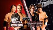 Christian & Yoshi Tatsu vs. William Regal & Zack Ryder