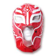 Rey Mysterio Red & White Half Mask