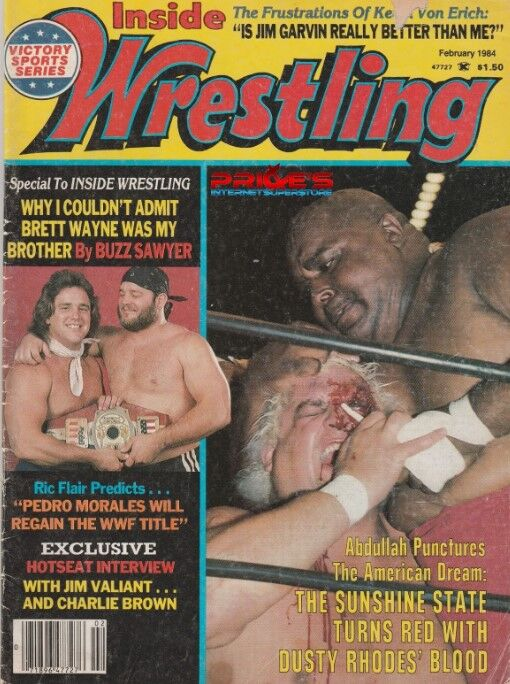 Image result for inside wrestling feb 1984