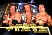 Wrestlemania 20 Triple H vs Chris Benoit vs Shawn Michaels