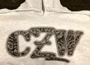 CZW Skull Logo Hooded Sweatshirt