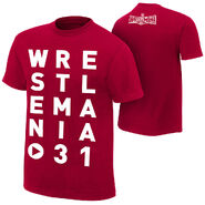 WrestleMania 31 Eye Chart T-Shirt
