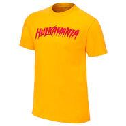 Hulk Hogan new Hulkamania Yellow T-Shirt
