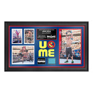 John Cena WrestleMania 31 Signed Commemorative Ring Canvas Framed Collage