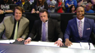 Michael Cole, JBL & Byron Saxton - Royal Rumble 2016