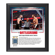 Sami Zayn Battleground 2016 15 x 17 Commemorative Framed Plaque w Ring Canvas