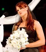 Lita at her wedding with Kane