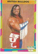 1995 WWF Wrestling Trading Cards (Merlin) British Bulldog 7