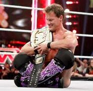 WWE0001 Chris Jericho with CM Punk's wwe championship