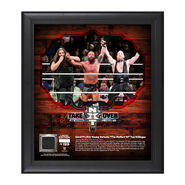 Eric Young NXT TakeOver San Antonio 15 x 17 Framed Plaque w Ring Canvas