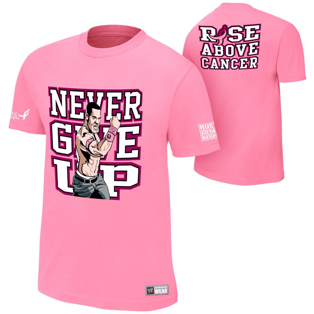 John Cena Quot Rise Above Cancer Quot Pink T Shirt Pro Wrestling